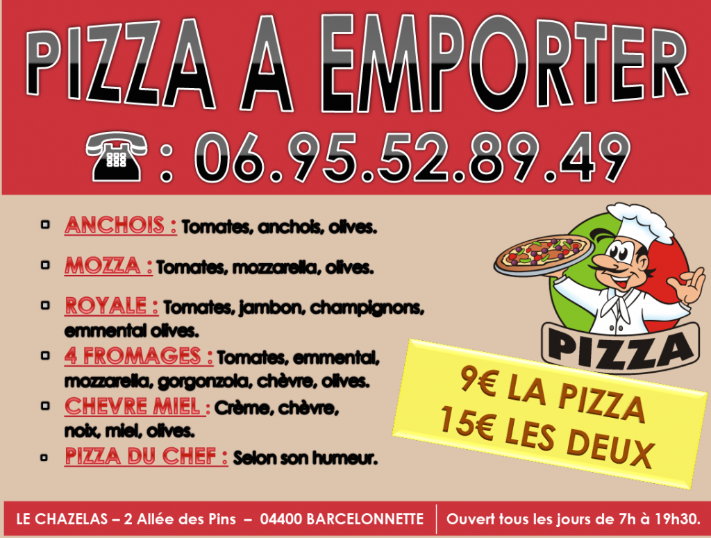 pizza barcelonnette